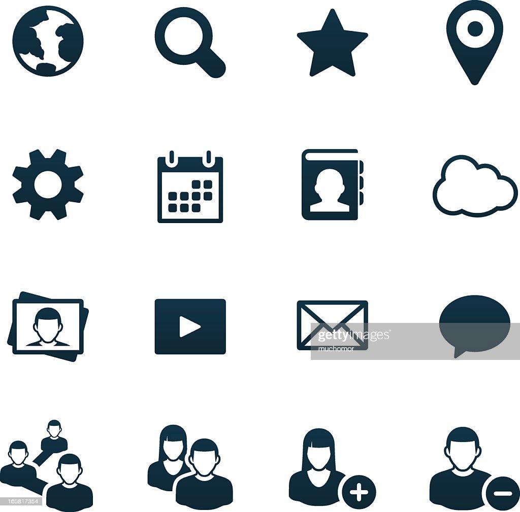Social Media Icons | black series