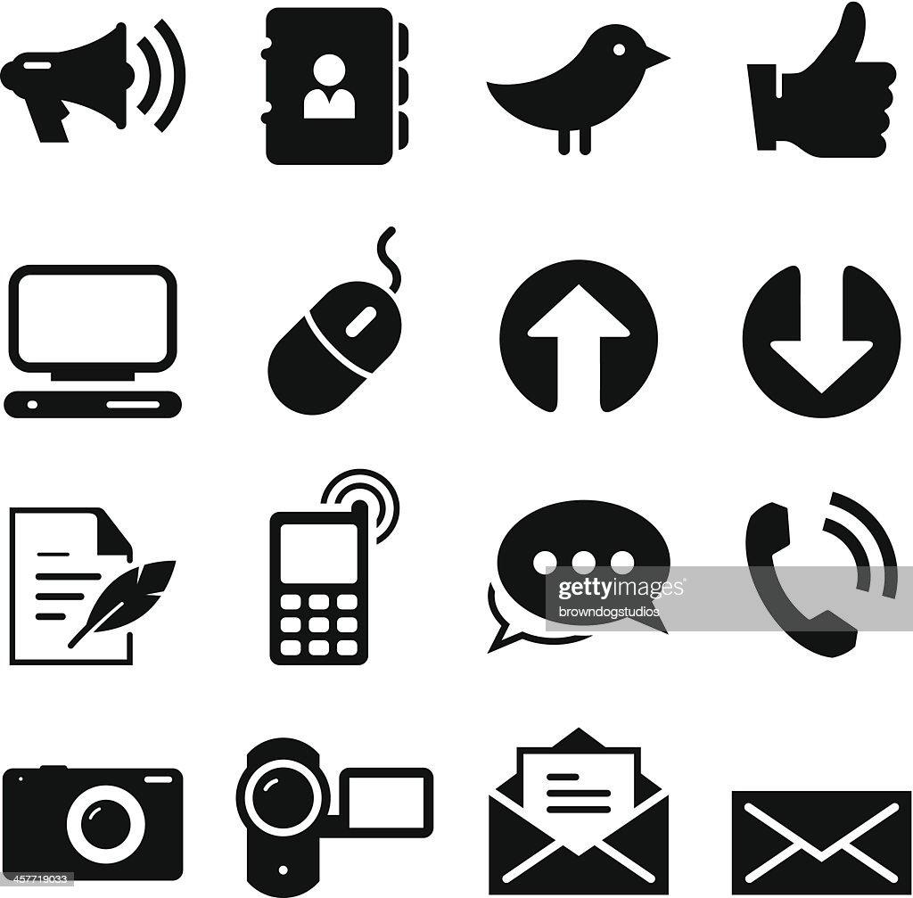 Social Media Icons - Black Series