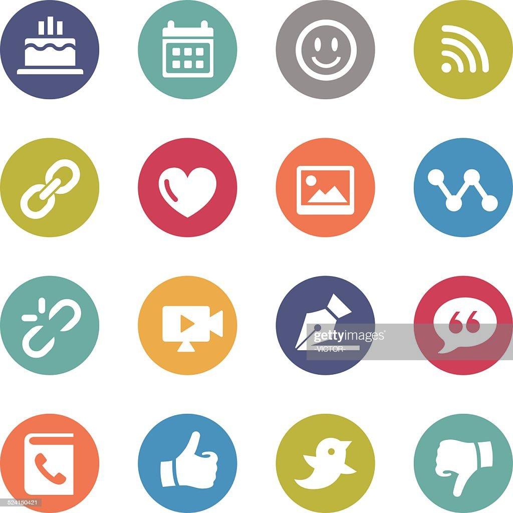 Social Media Icons - Circle Series
