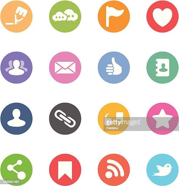 Social Media Icons - Circle