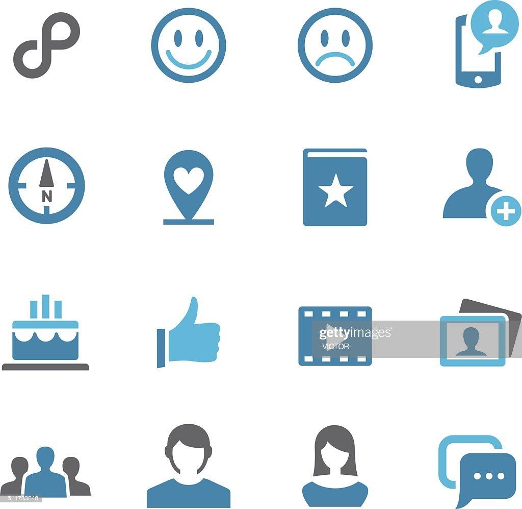 Social Media Icons - Conc Series