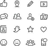 Social Media Icons - Line Series