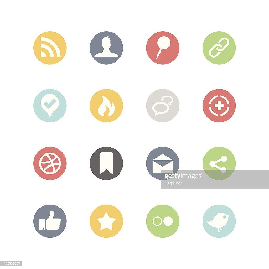 Social Media Icons : Minimal Style
