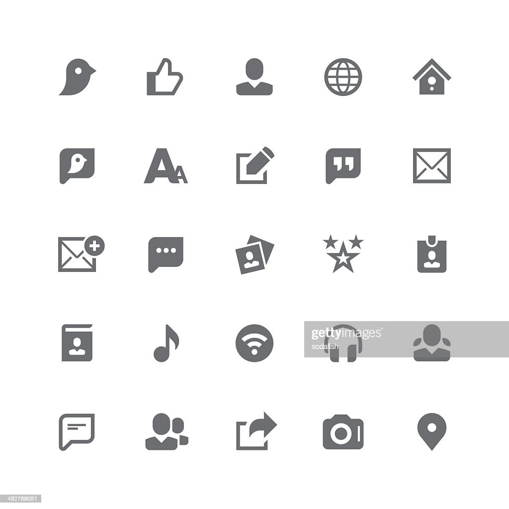 Social media icons | retina series : stock illustration