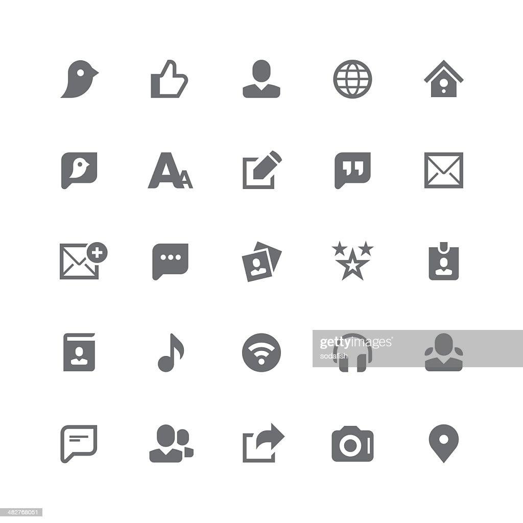 Social media icons | retina series
