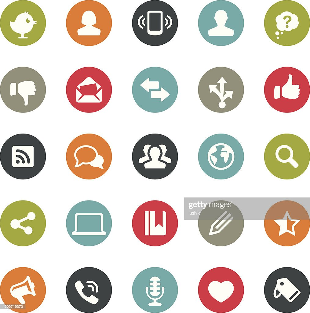 Social Media icons / Ringico series