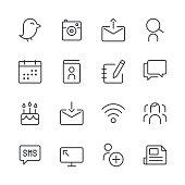 Social Media Icons set 1 | Black Line series