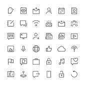 Social Media icons set 1 | Thin Line series