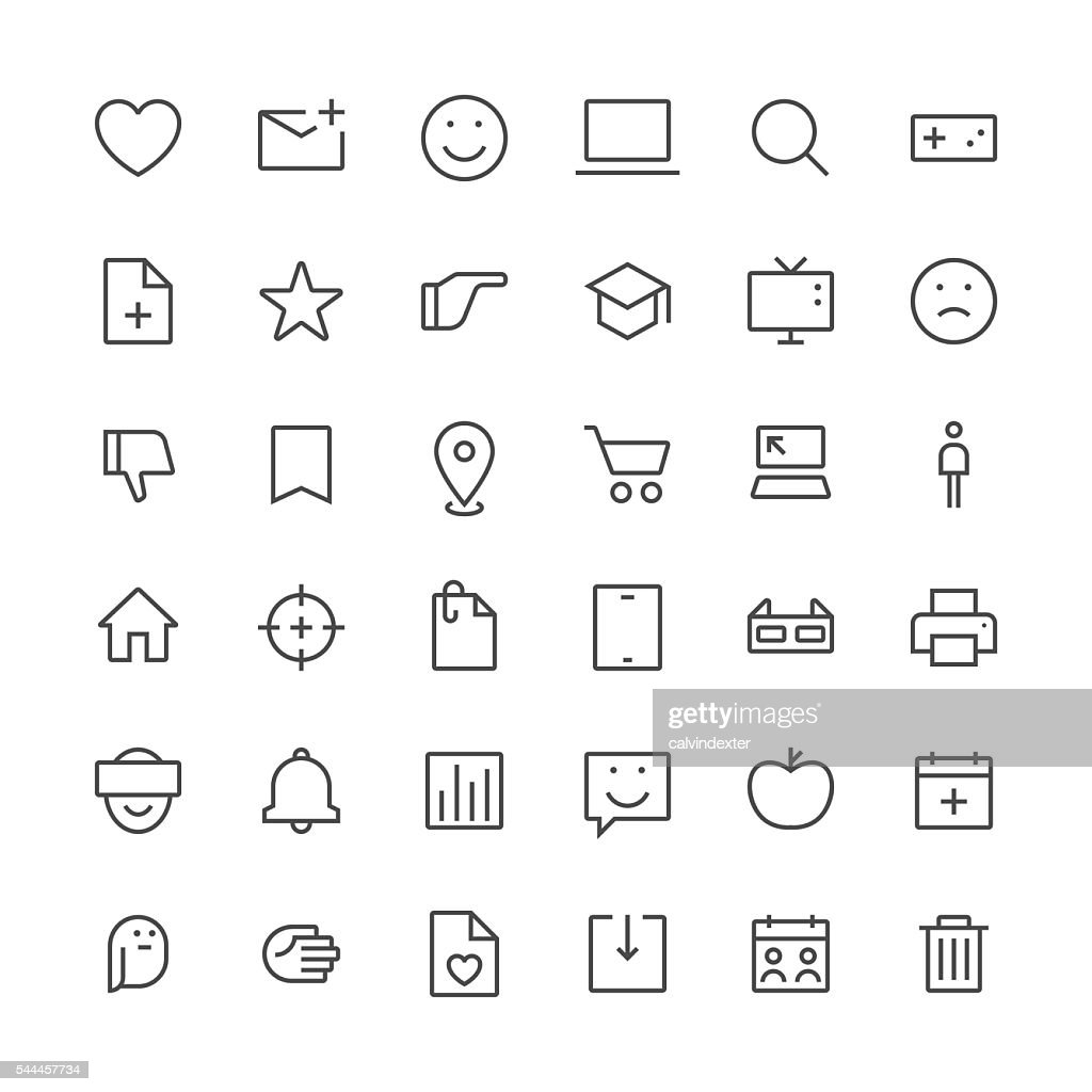 Social Media icons set 2 | Thin Line series