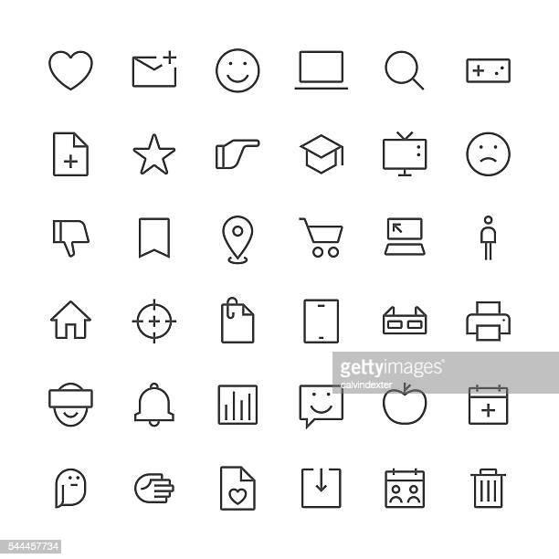 Social Media icons set 2 | Thin Line series