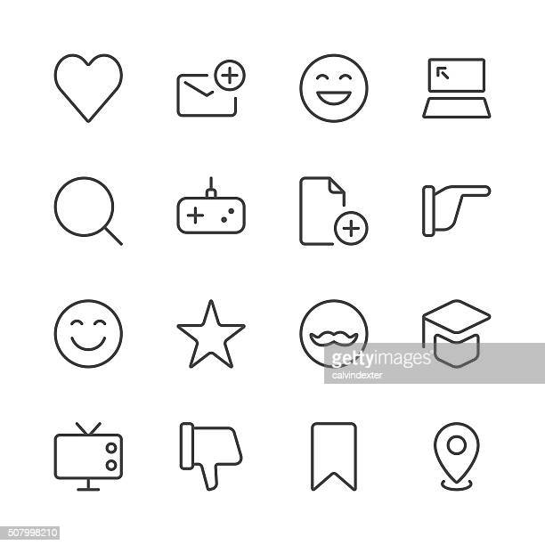 Social Media Icons set 3 | Black Line series
