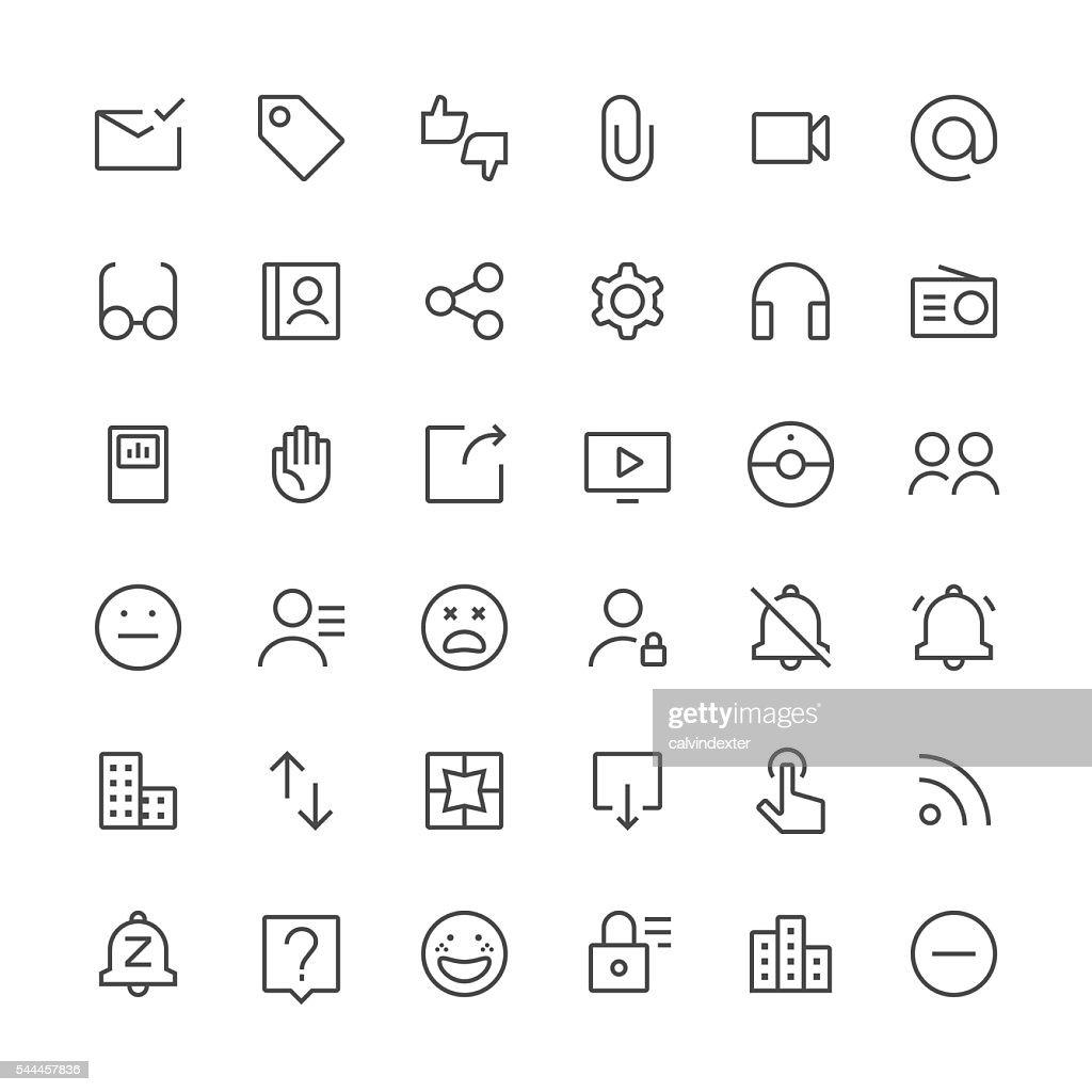 Social Media icons set 3 | Thin Line series