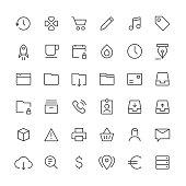 Social Media icons set 4 | Thin Line series