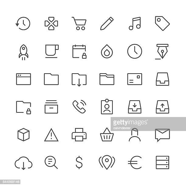 Social Media icons set 4 | Thin Line series