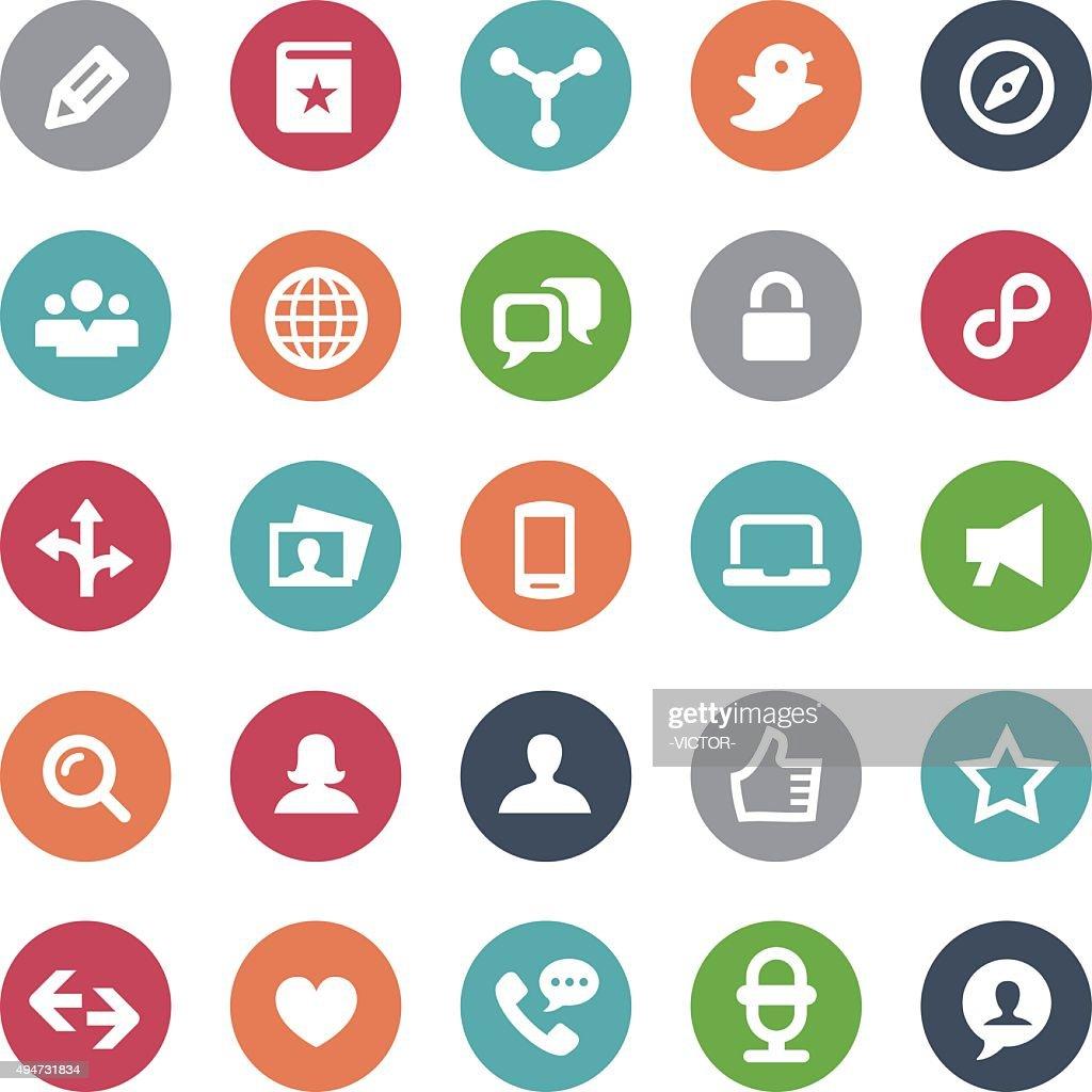 Social Media Icons Set - Bijou Series