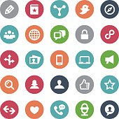Social Media Icons Set - Bijou Series
