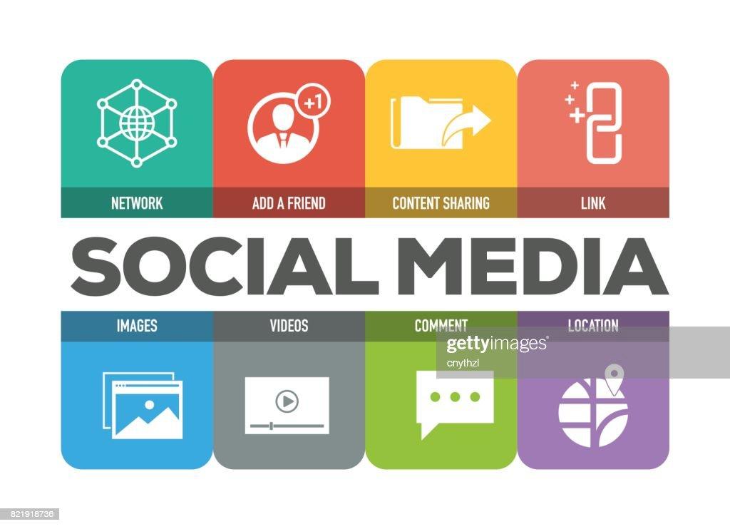Social Media Icons Set : stock illustration