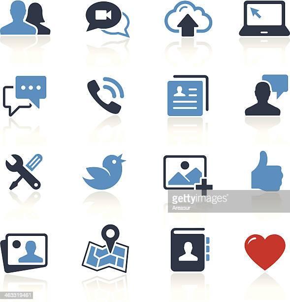 Icônes de médias sociaux de deux couleurs/Pro Series