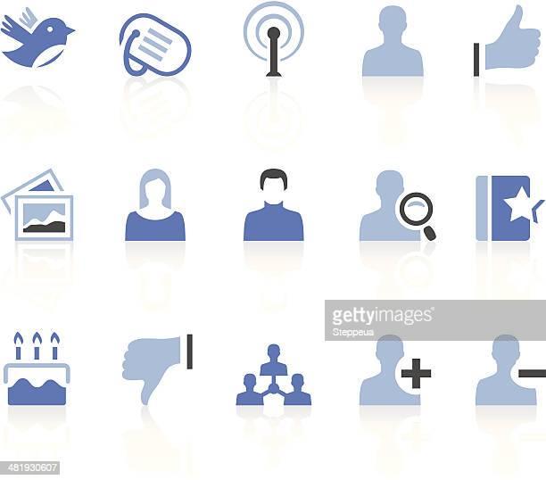 illustrazioni stock, clip art, cartoni animati e icone di tendenza di icone dei social media - fotografia immagine