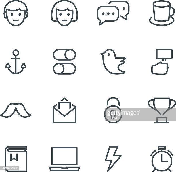 ilustrações, clipart, desenhos animados e ícones de ícones de mídia social - smiley faces