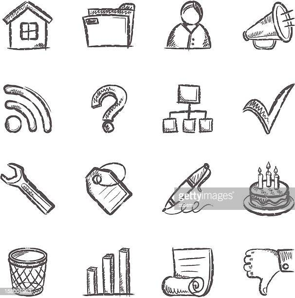 social media iconset - thumbs down stock illustrations