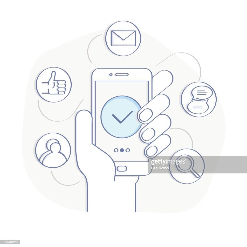 Social media illustration concept
