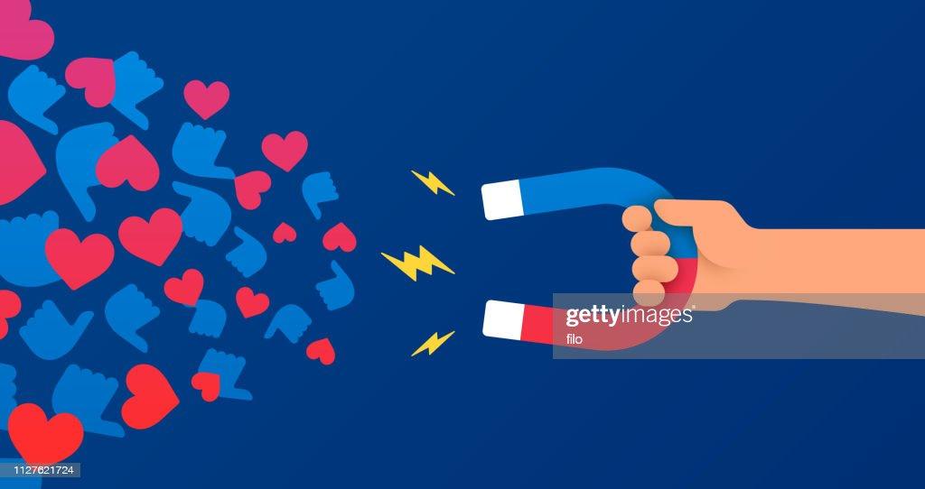 社会的なメディアに影響を与えるとマーケティング : ストックイラストレーション