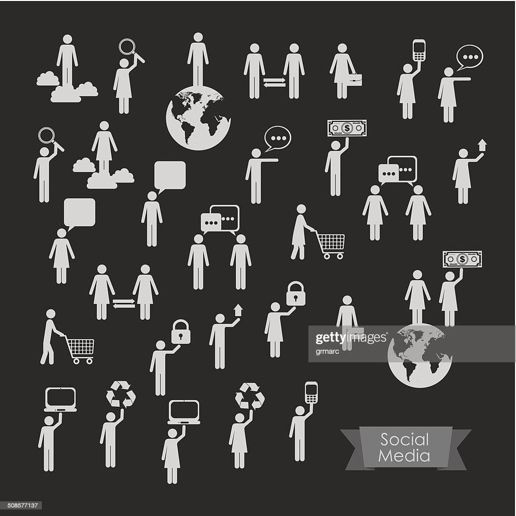 Social-Media-Infografik : Vektorgrafik