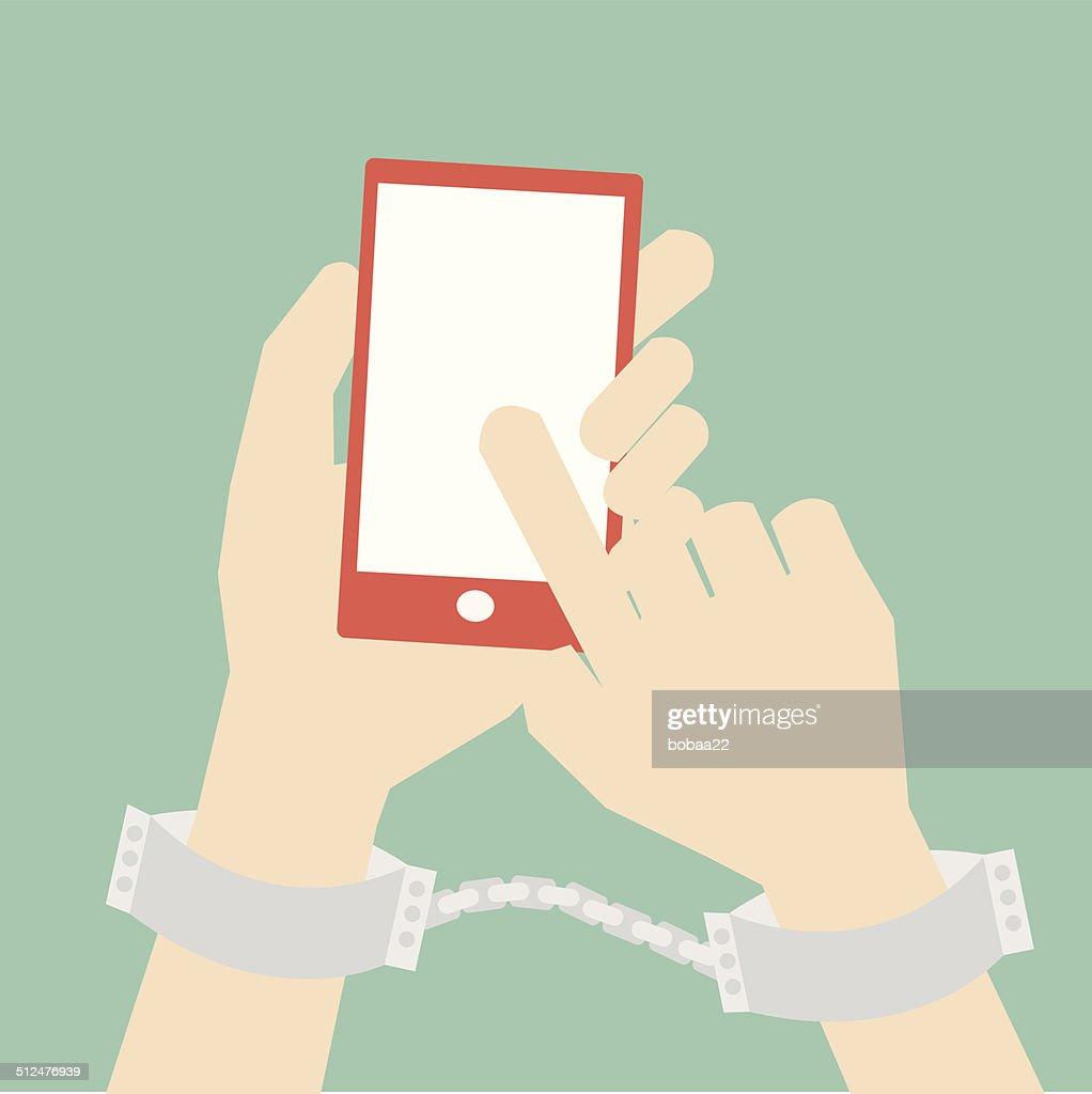social media ,internet addiction concept