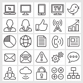 Social Media Internet and Communication Vector Icon Set