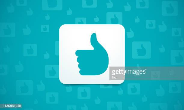 social media like background - like button stock illustrations
