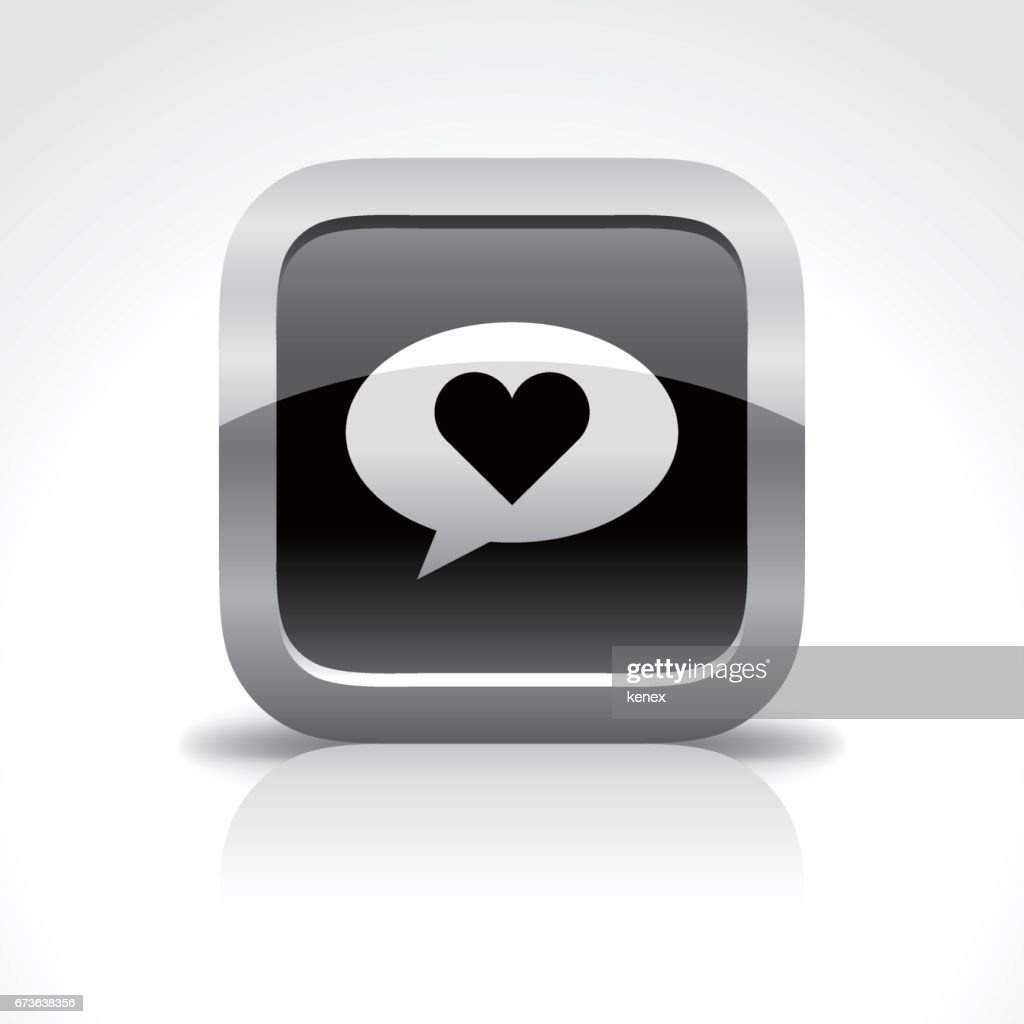 Social Media Message Glossy Button Icon