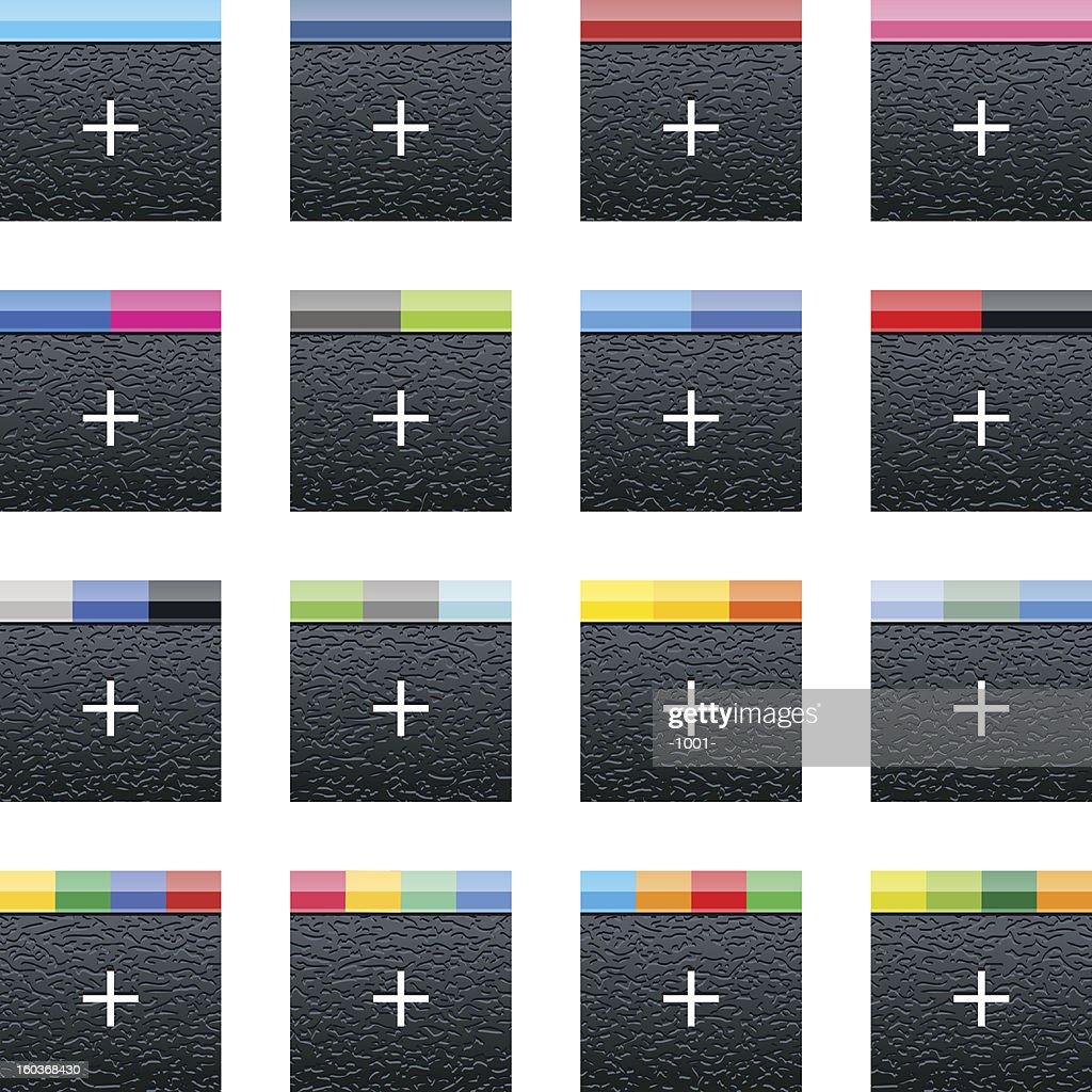 Social media network icon square web button with plastic texture