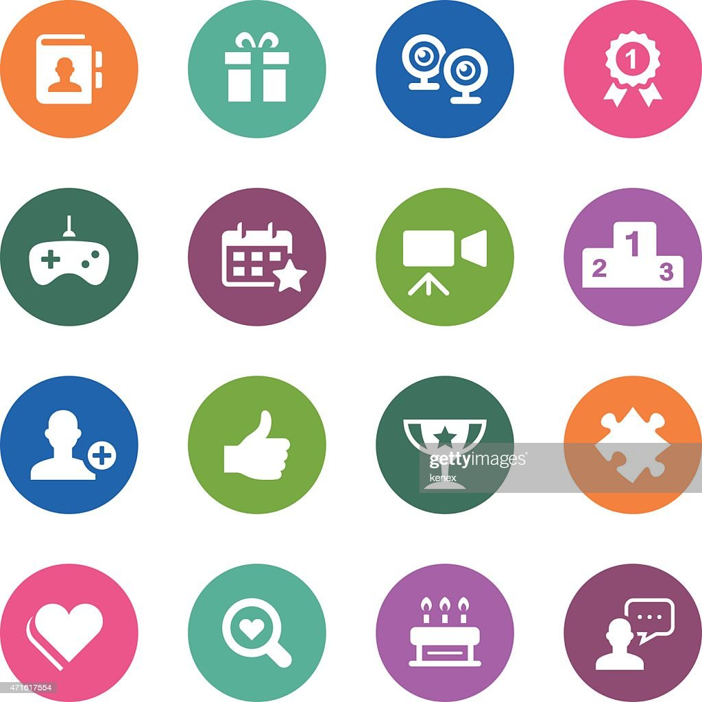 Social media of circle icons series