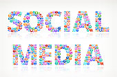 Social Media on Modern Technology and Communication royalty-free vector arts