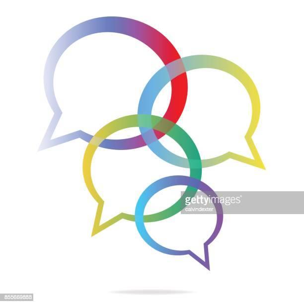 social-media online-messaging-abbildung - brainstorming stock-grafiken, -clipart, -cartoons und -symbole