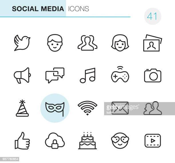 ilustrações, clipart, desenhos animados e ícones de mídias sociais - ícones perfeito de pixel - equipamento elétrico equipamento de recreação