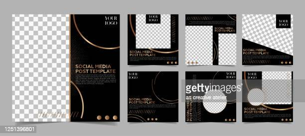 social media post template - modern dark and gold colors minimalist luxury background. - auto post production filter stock illustrations
