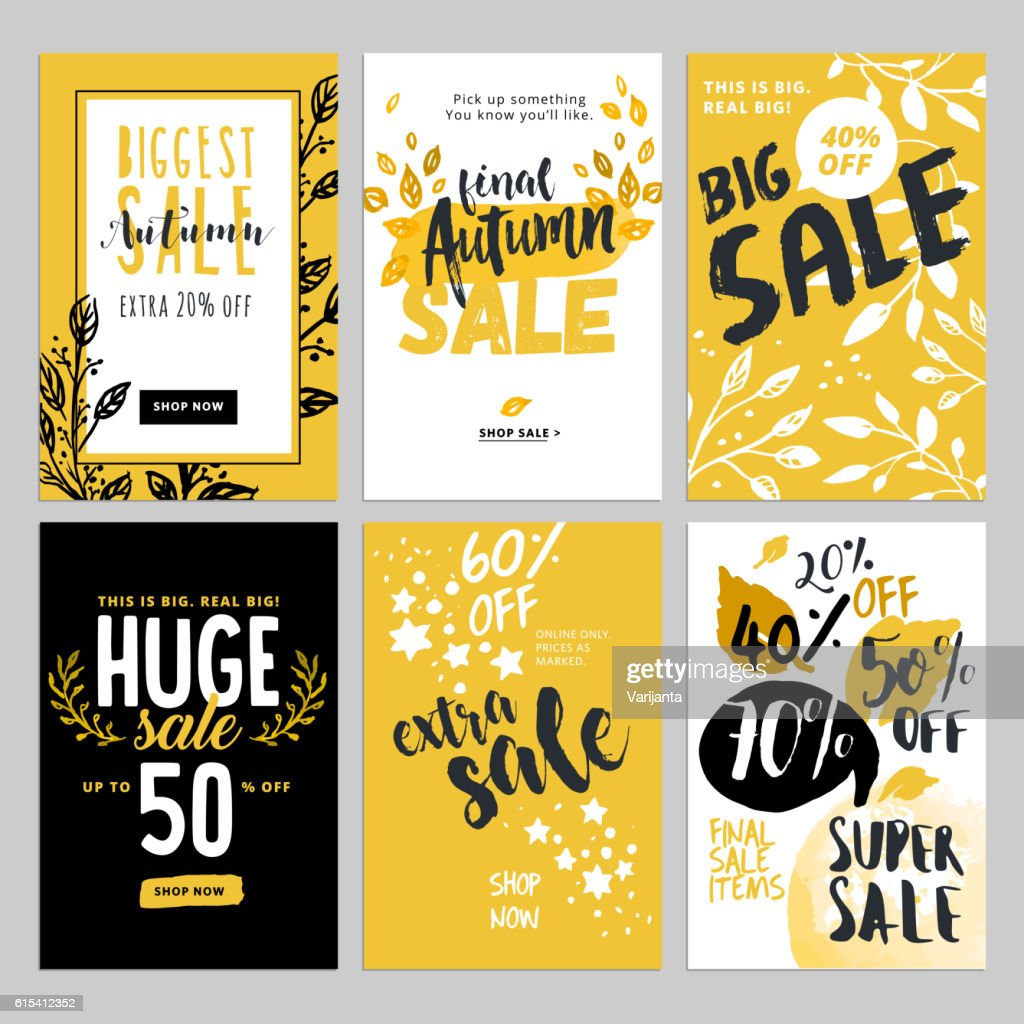 Social media sale banners, and ads web template set