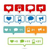 Social media signs and symbols