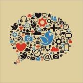 Social Media Speech Bubble Flat