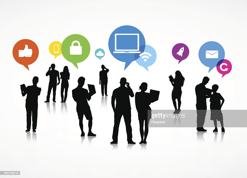 Social Media Speech Bubble Vector