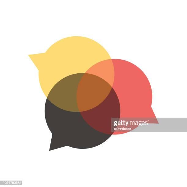 ソーシャル メディアのスピーチの泡 - 噂点のイラスト素材/クリップアート素材/マンガ素材/アイコン素材