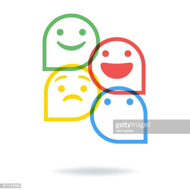 social media speech bubbles - smiling stock illustrations