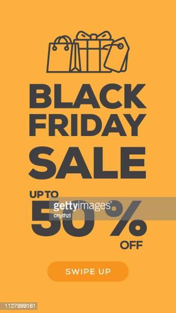 Social Media Stories Page Sale Banner Background-BLACK FRIDAY SALE