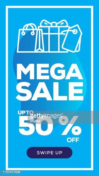 Social Media Stories Page Sale Banner Background-MEGA SALE
