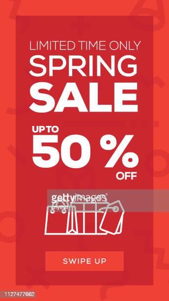 Social Media Stories Page Sale Banner Background-Spring Sale