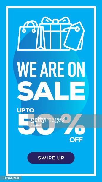 Social Media Stories Page Sale Banner Background-We Are On Sale
