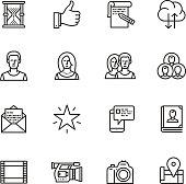 Social media Thin Line icons