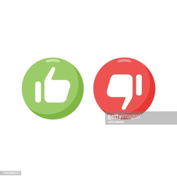 social media thumbs up and thumbs down - like button stock illustrations